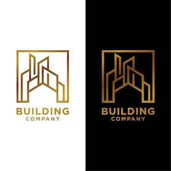 Modern building real estate luxury logo template
