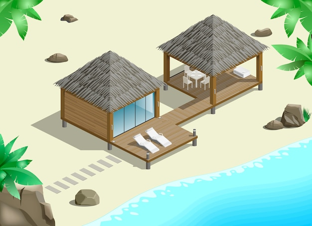 Modern bungalow on  coast