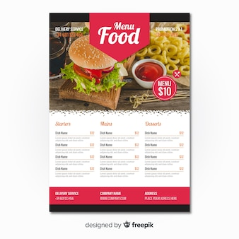Modern burger restaurant flyer template