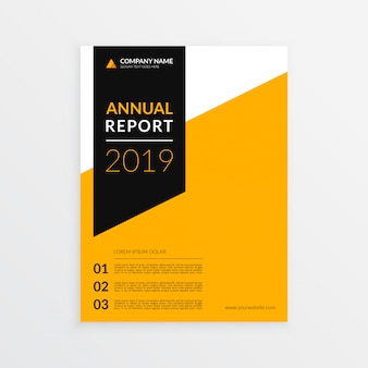 Modern business annual report cover template