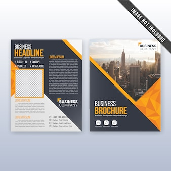 Modern business annual report and flyer template