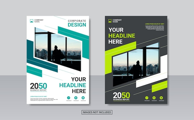 Modern business annual report template