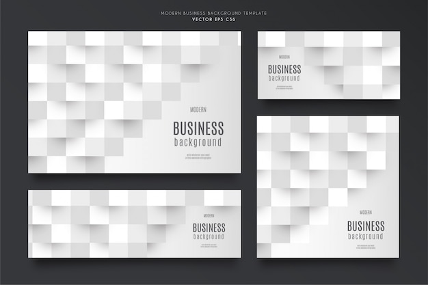 Modern business background template pack