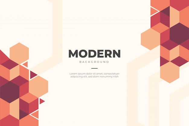 Modern business background with geometric shapes