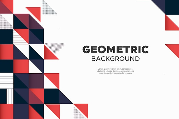 Modern business banner background with abstract geometric memphis shapes