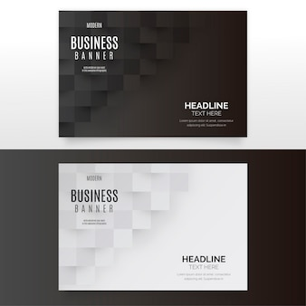 Modern business banner collection
