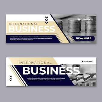 Modern business banner design