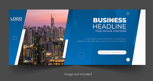 Modern business banner template design