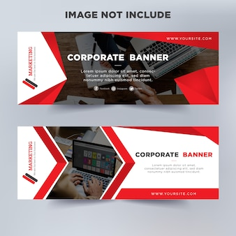 Modern business banner template