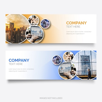 Modern business banner with circle shapes
