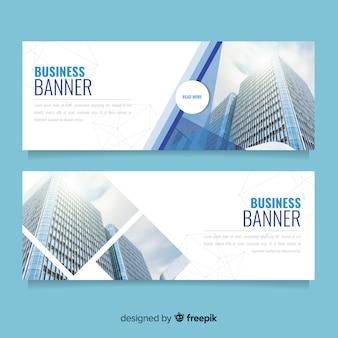 Bandiere moderne di affari con foto
