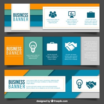 Modern business banners with stripes