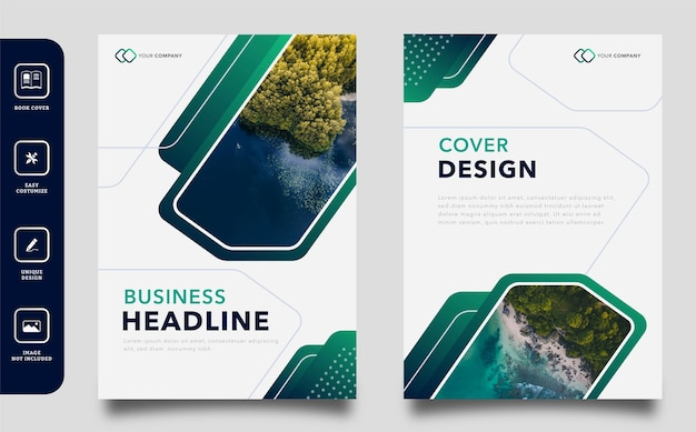 Modern business book cover design template