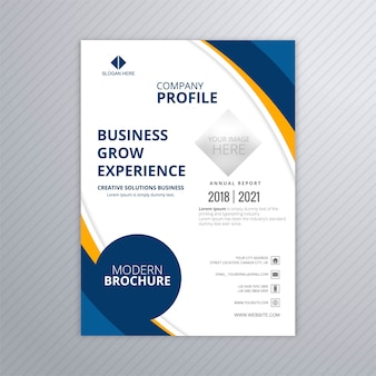 Modern business brochure colorful template with wave vector