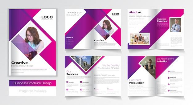 Современный бизнес брошюра дизайн