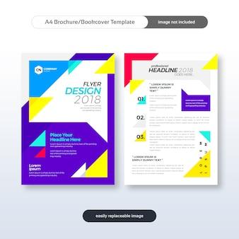 現代ビジネスのパンフレット、フライヤー、ブックカバー、年次レポートデザインテンプレート
