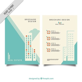 Modern business brochure of real estate