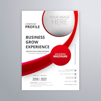 Modern business brochure template with wave design vector