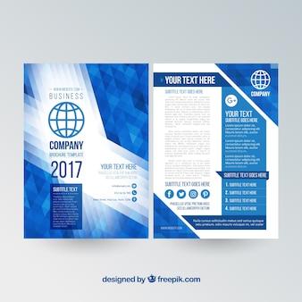 Modern business brochure template Free Vector