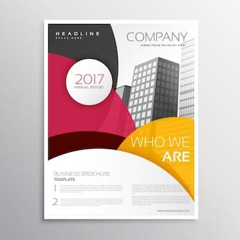 Современная брошюра компании или листовка дизайн шаблона с абстрактными красочные фигуры