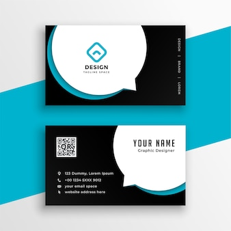 Modern business calling visiting card design template