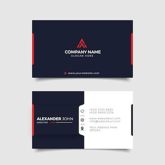 Современная визитка черного цвета и reed corporate professional