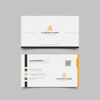 Modern business card black and orange elegant professional