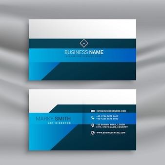 Modern business card, blue