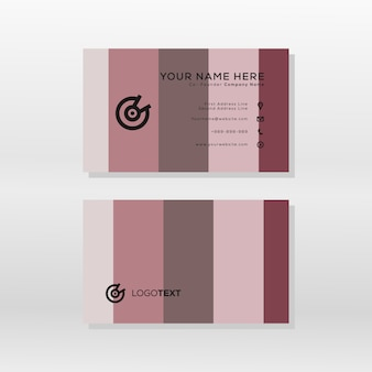 Modern business card color pallete style