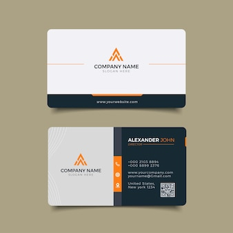 Modern business card corporate professional