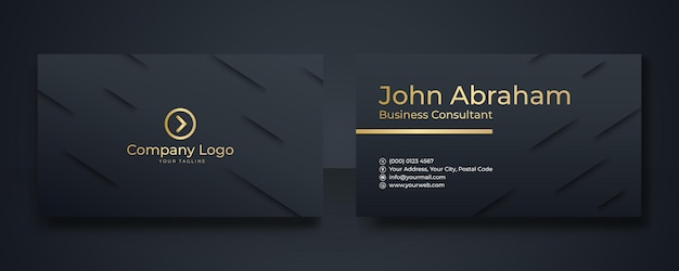 Modern business card - creative and clean business card template. luxury business card design template.
