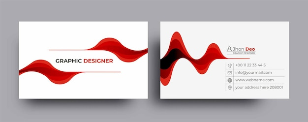 Modern business card - creative and clean business card template.