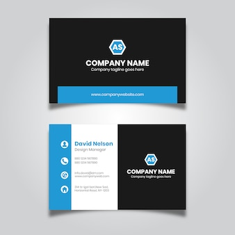 Modern business card design for company