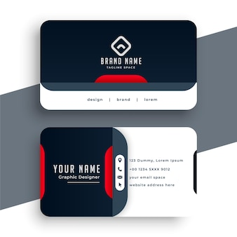 Modern business card design in professional style