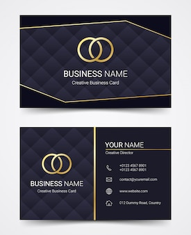 Modern business card design template set, vector illustration