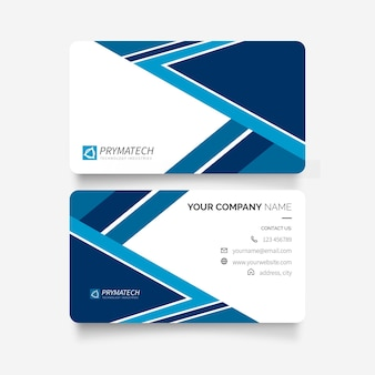 Modern business card design with abstract shapes template
