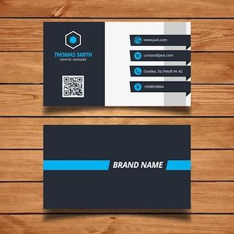 現代のビジネスカードのデザイン