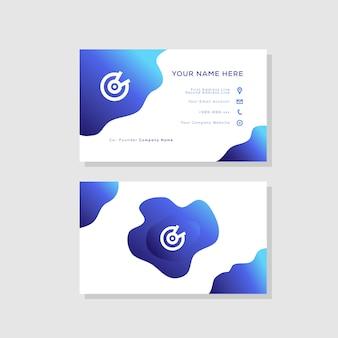Современный стиль визитной карточки градиент цвета