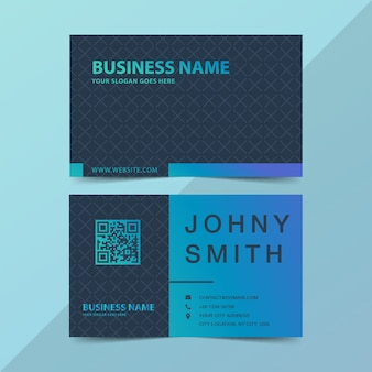 Modern business card in green and blue gradient