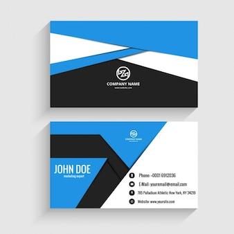 折り紙スタイルで近代的なビジネスカード