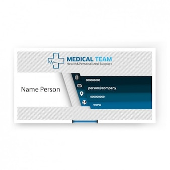 Modern business card of medical team
