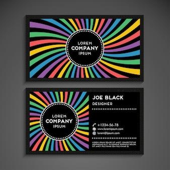 Modern business card in rainbow design