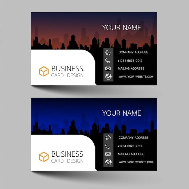 Modern business card set template design.