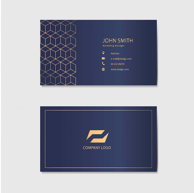 Modern business card template . abstract geometric background.