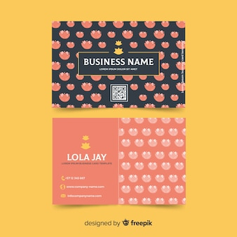 Modern business card template concept
