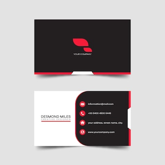 Modern business card template creative and clean