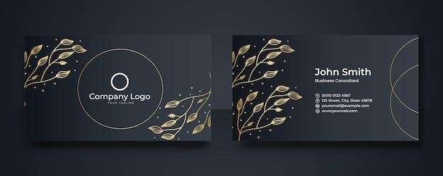 Modern business card template design. business card with floral, business card photography, business card layout. photography business cards. black business card template