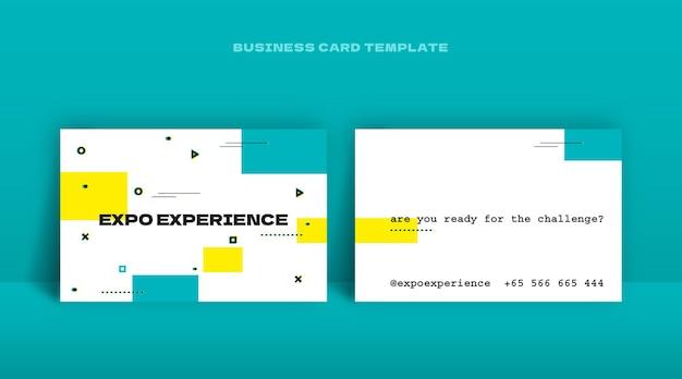 Design moderno del modello di biglietto da visita in stile geometrico
