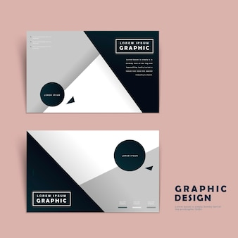 Modern business card template design with geometric elements