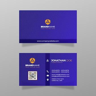 会社のベクトル図の抽象的な連絡先カードからインスピレーションを得たモダンな名刺テンプレートデザイン